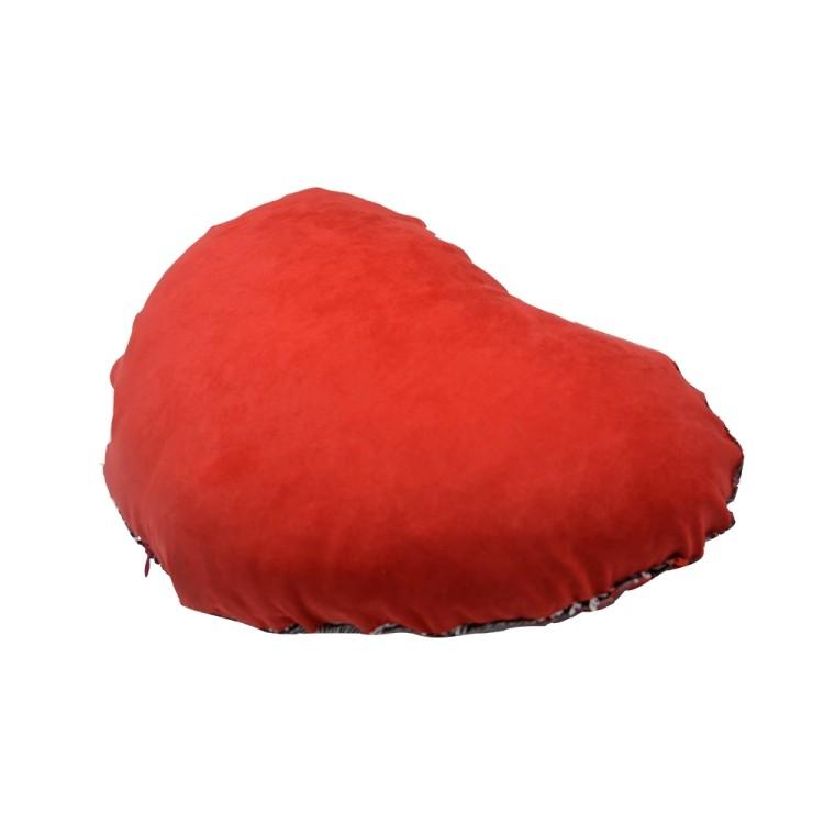 Sequin Pillow Case- heart Shape-Red