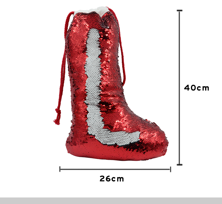 size for sublimation Xmas sequin stocking