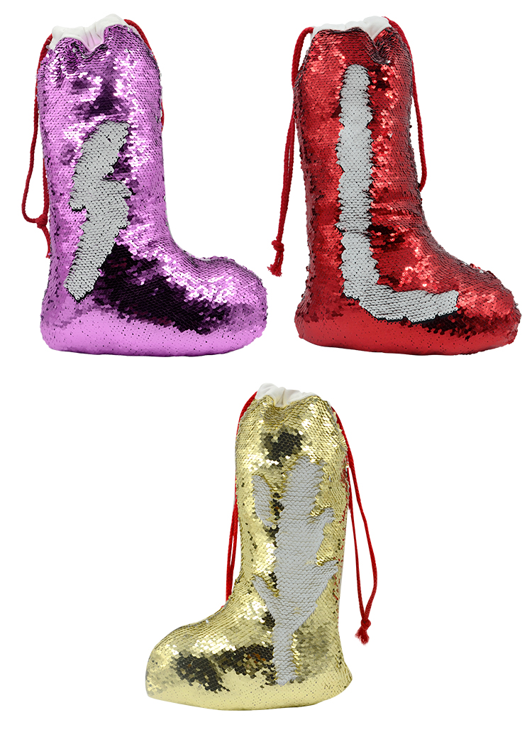 product image for sublimation Xmas sequin stocking