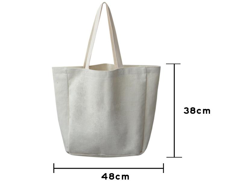 size for sublimation linen tote bag