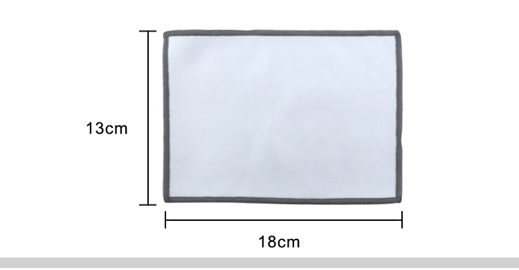13*18cm Terry Lined Custom Mouse Pad and Cleaning Cloth2