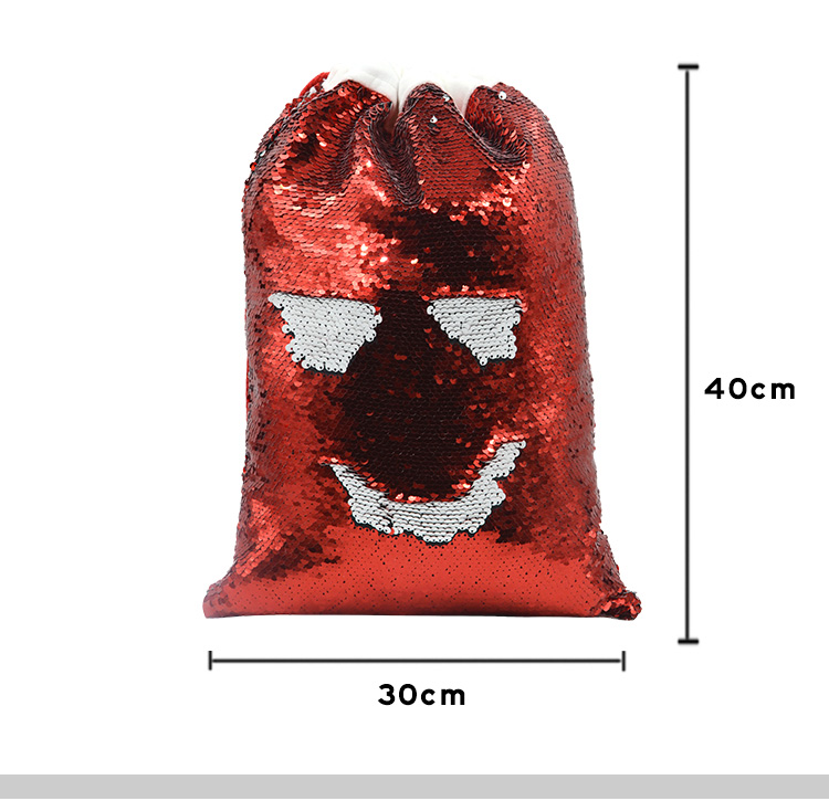Sequin Xmas Sack Red
