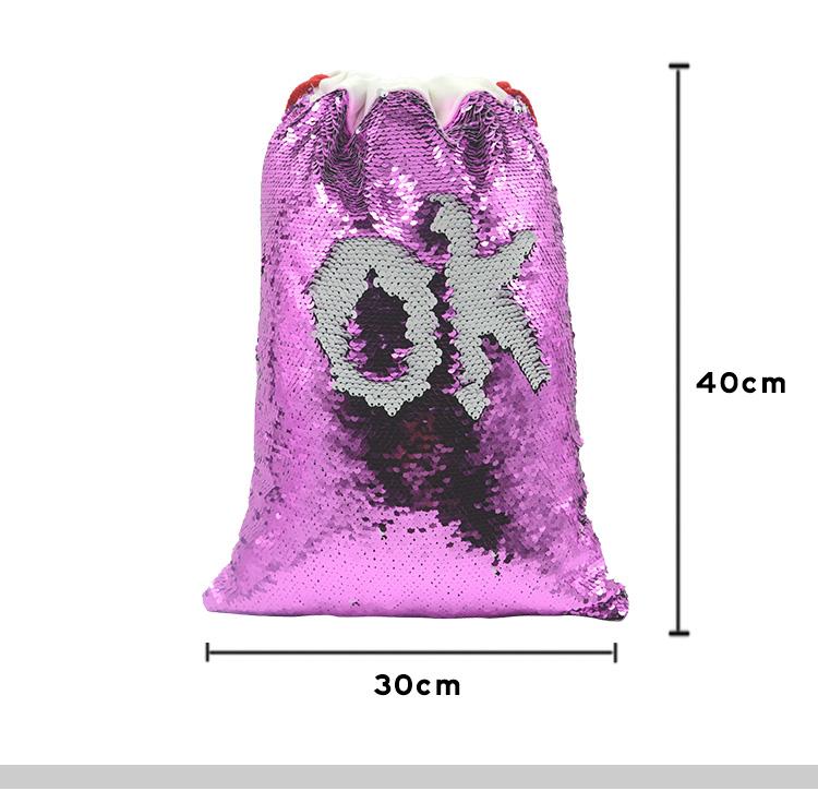 Sequin Xmas Sack 30*40cm
