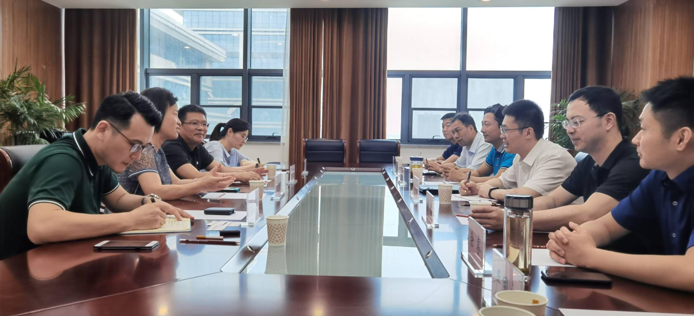 徽商银行总行、菏泽分行等领导一行来访 商谈金开区城投项目合作