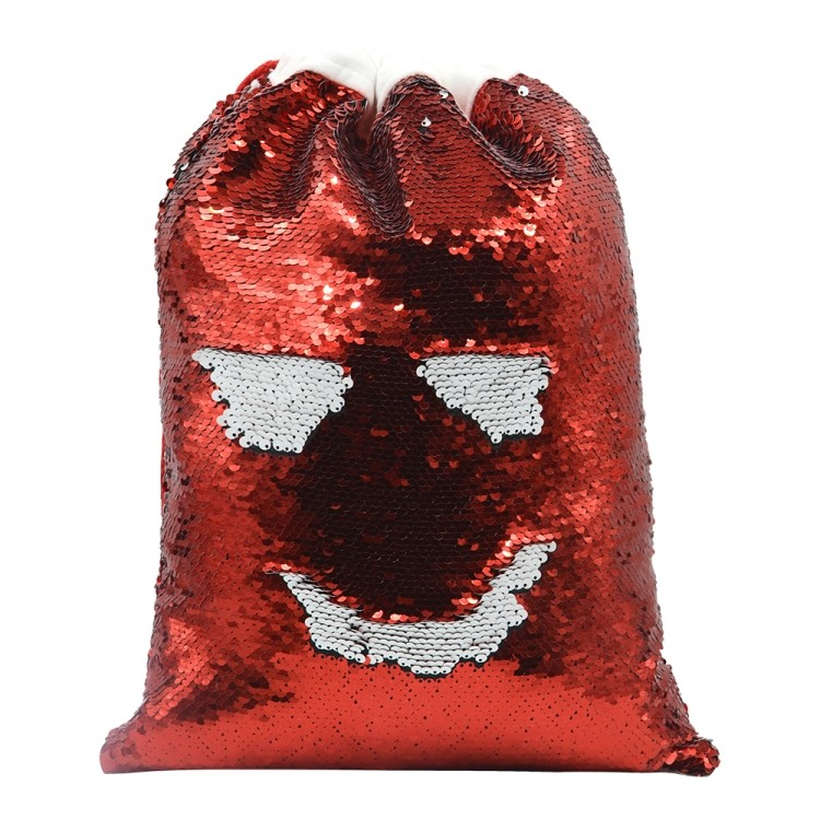 Sequin Xmas Sack-30*40cm Red
