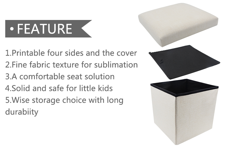 Feature for Linen storage stool