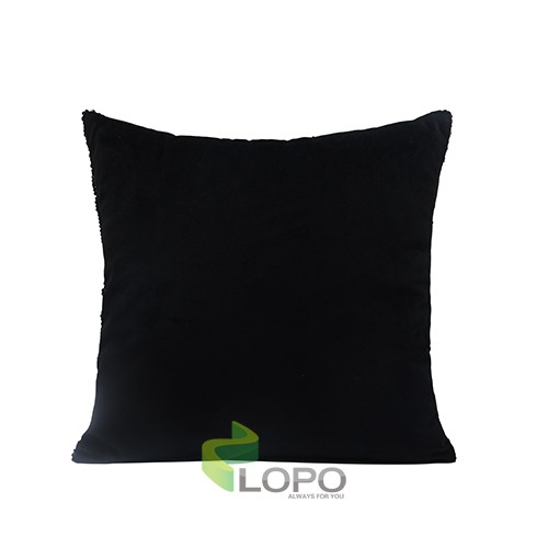 Sequin Pillow Case-Square Shape-Black