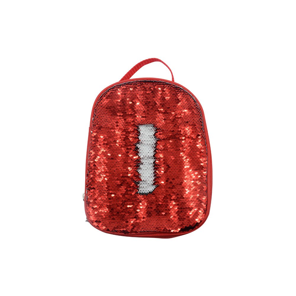 Sequin Kids Lunch Bag-Red
