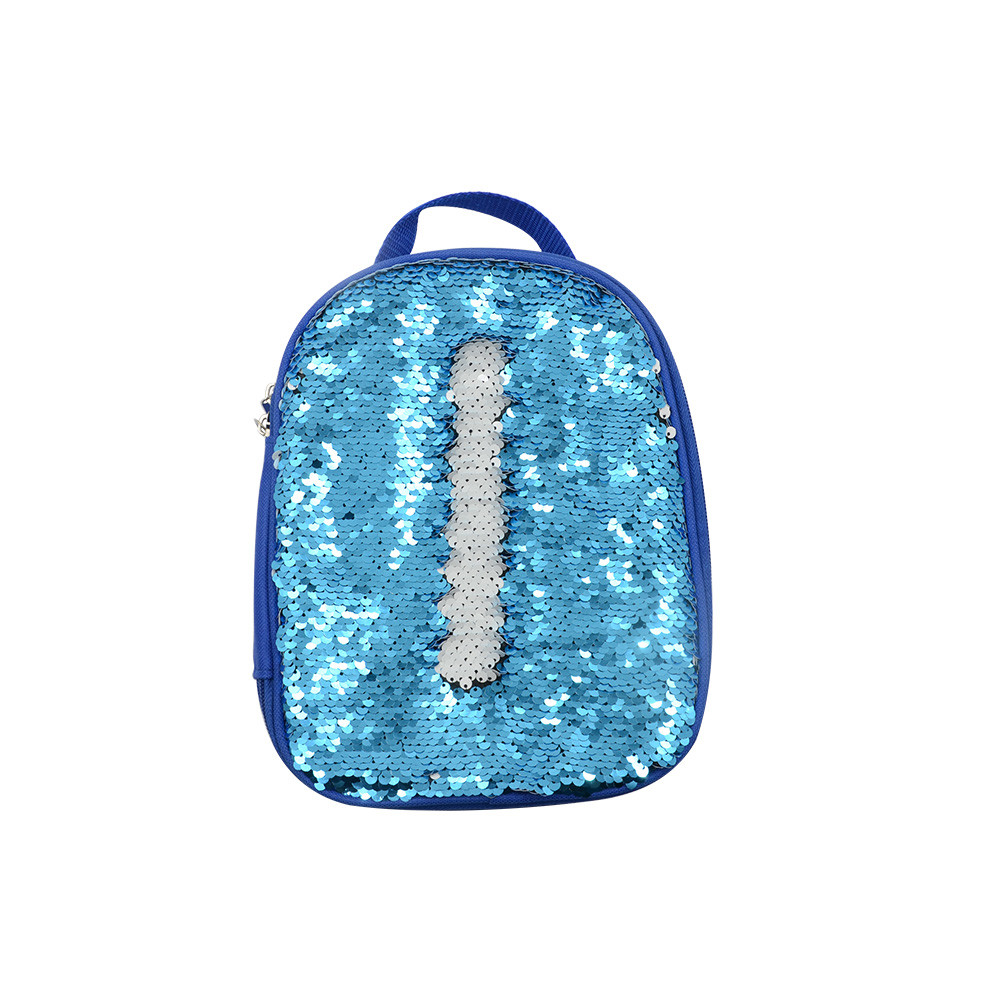 Sequin Kids Lunch Bag-Blue
