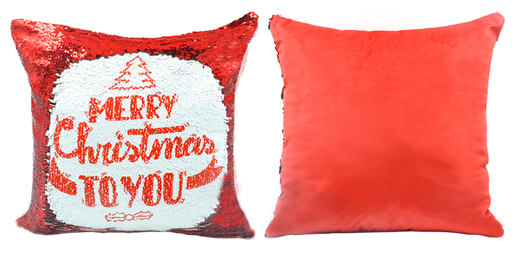 Blank sequin pillow case for sublimation