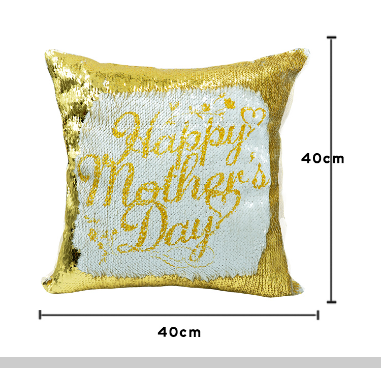 Size for sublimation sequin pillow case