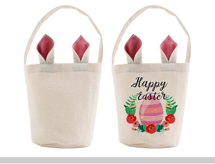 Blank sublimation linen easter basket