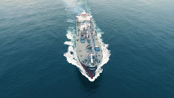 荣耀起航 中国贝博手机登录第二艘自有VLGC东海试航