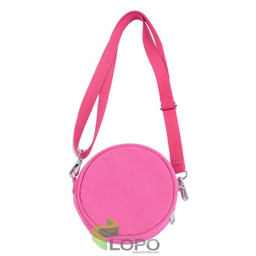 Sequin Kids Round Coin Bag-Rose Red