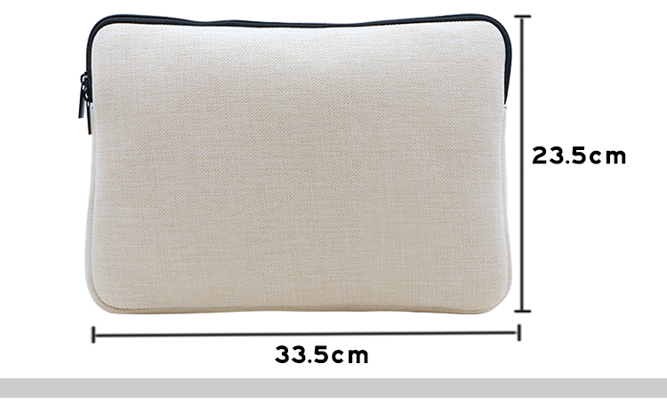 size for linen laptop bag