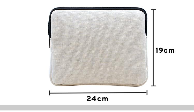 size for linen laptop bag