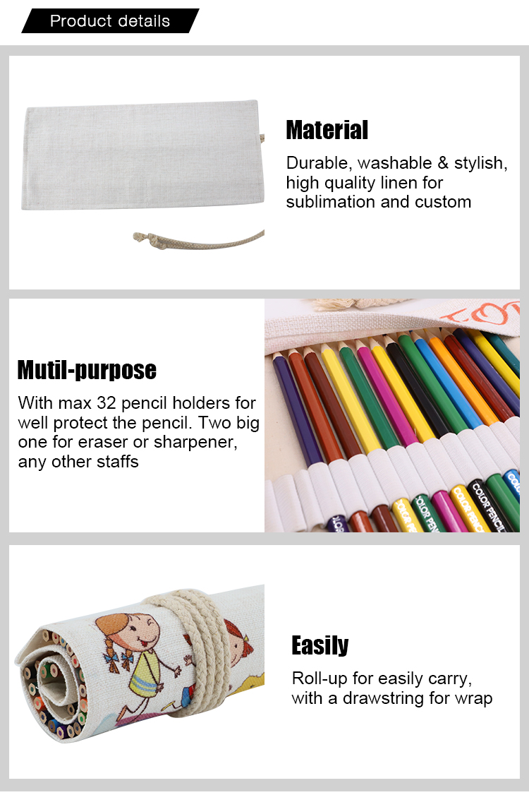 Details for Linen Pencil Roll