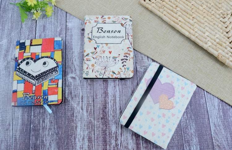 picture of Linen Notebook-A6-with Blank Paper Inner