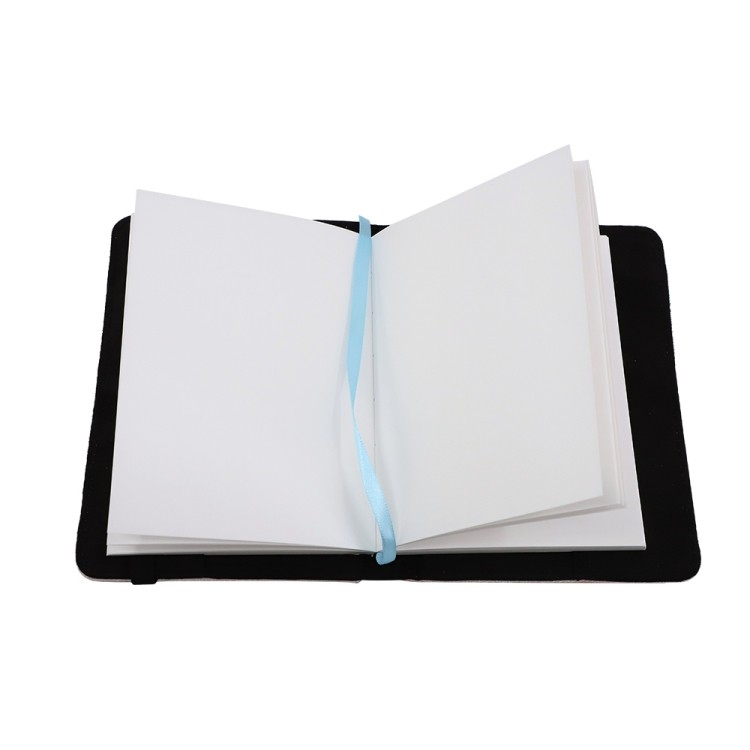 Linen Notebook-A6-with Blank Paper Inner