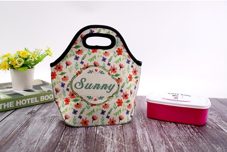 picture of Linen Neoprene Lunch Bag