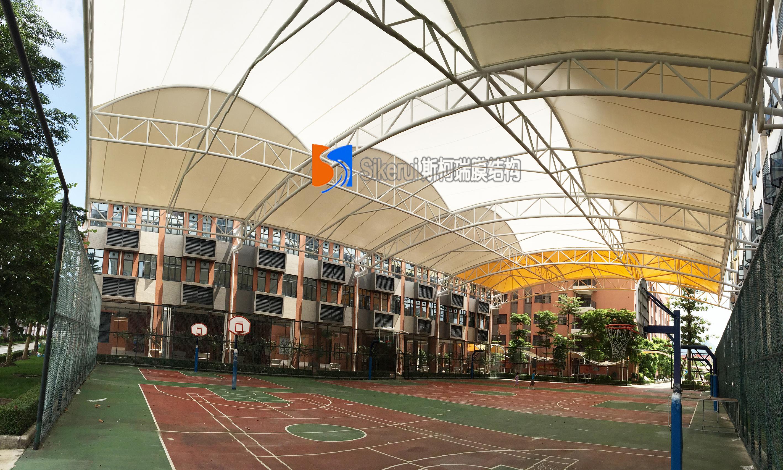 广州花都篮球场膜结构项目