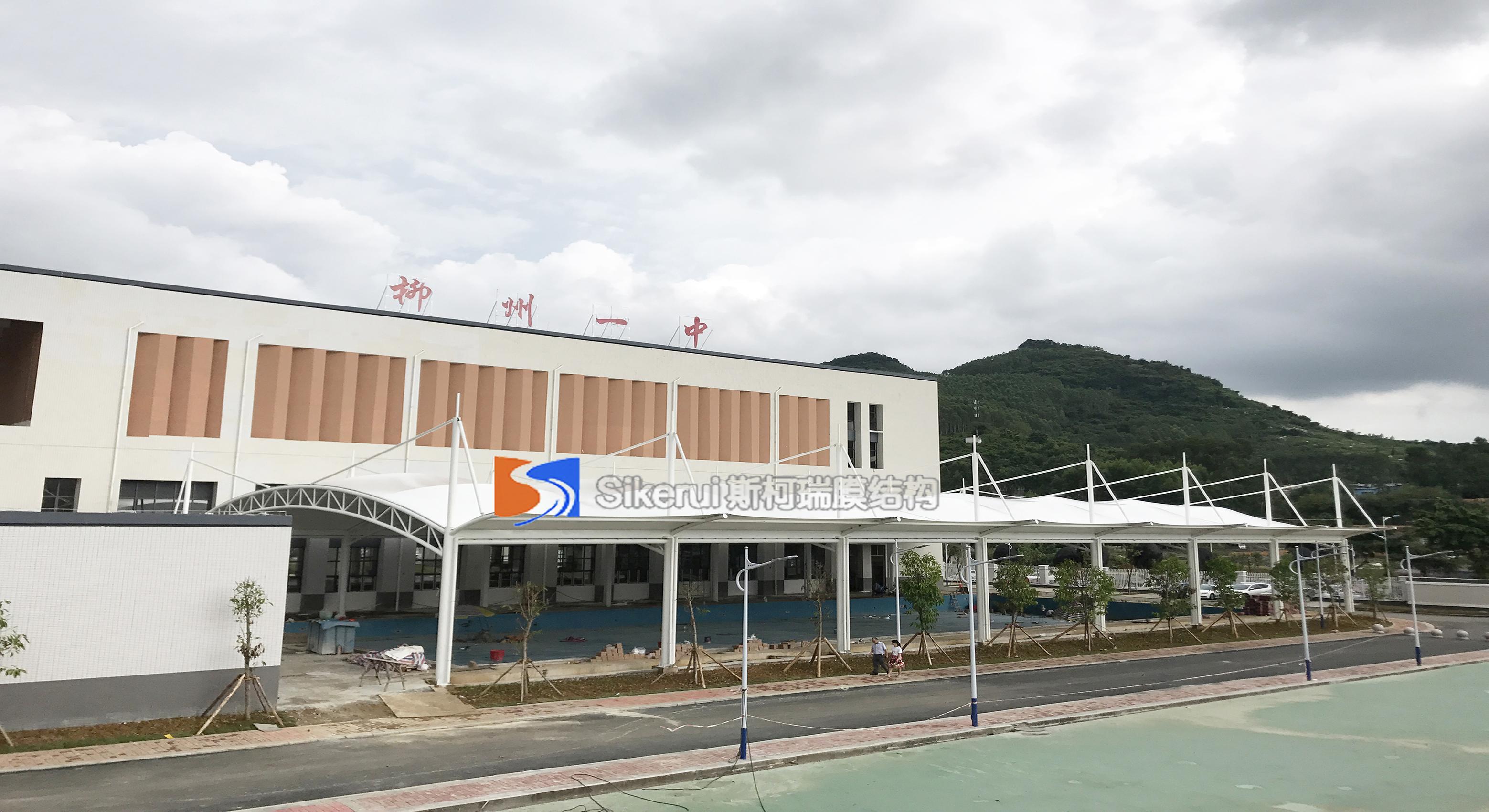 广西柳州一中游泳馆膜结构