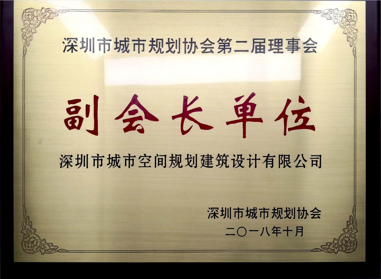 深圳市规划协会副会长单位