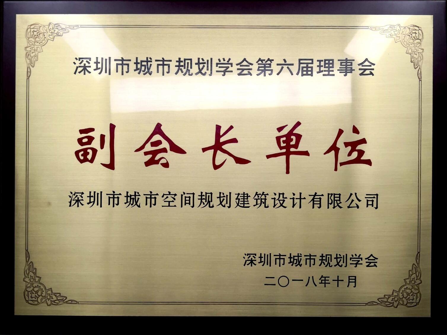 深圳市规划学会副会长单位