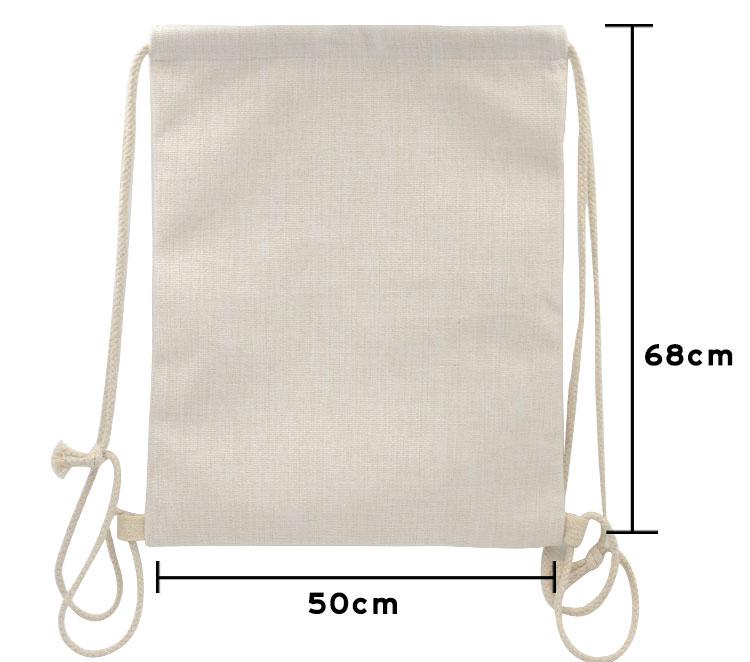 Size for sublimation linen drawstring bag