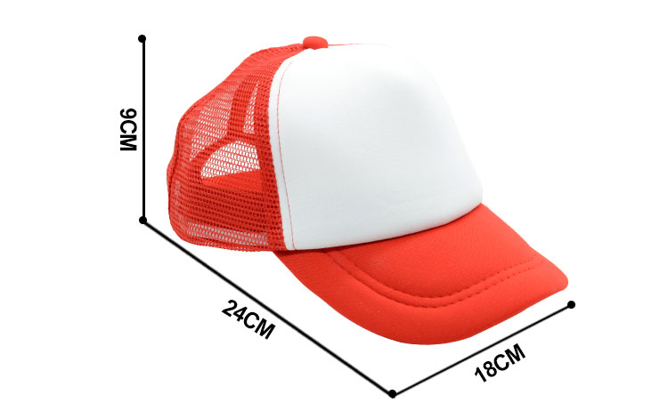 Size for sublimation mesh cap