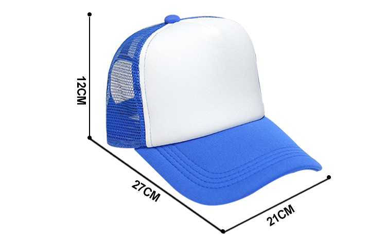 Size for sublimation adult mesh cap