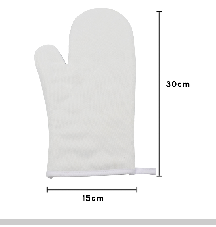 Size for sublimation oven mitt