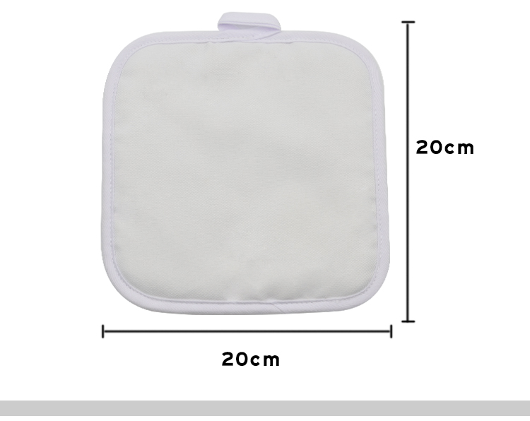 Size for sublimation pot holder