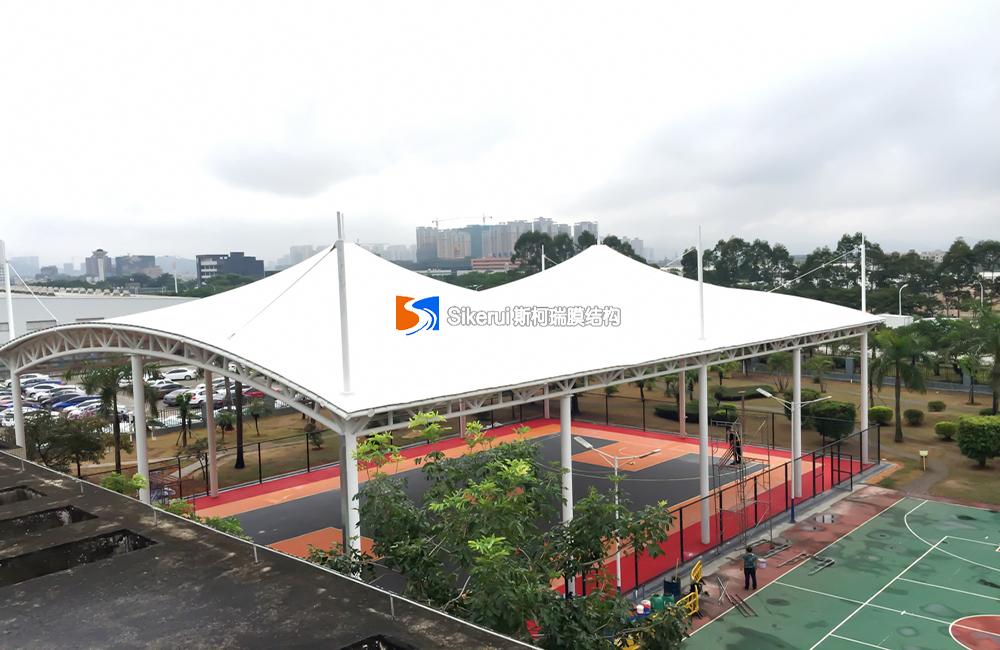 惠州东风本田篮球场膜结构项目
