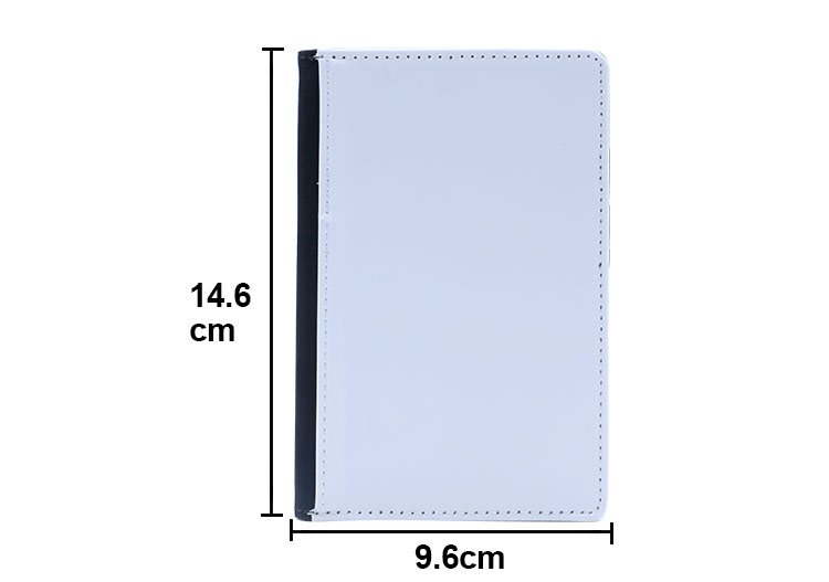 Size for sublimation passport cover