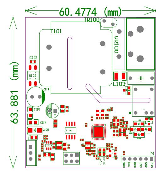 超远距离带电源高速物联网宽带电力线载波通讯模块M220L