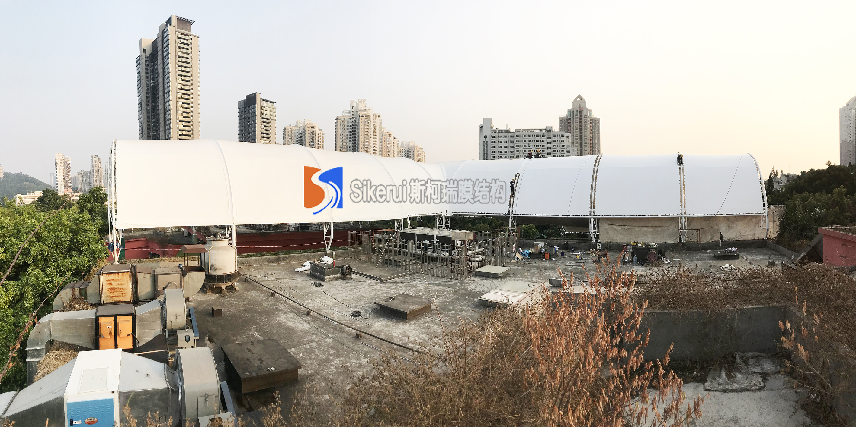 华侨城商业街膜结构项目
