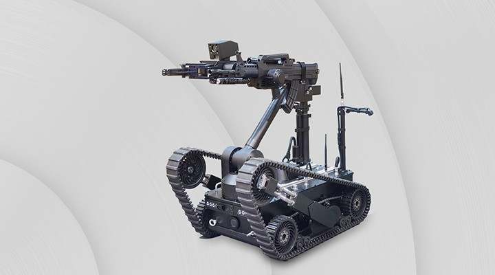 Long-range armed strike robot TrackerIIILS