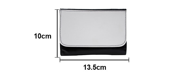 size for sublimation wallet