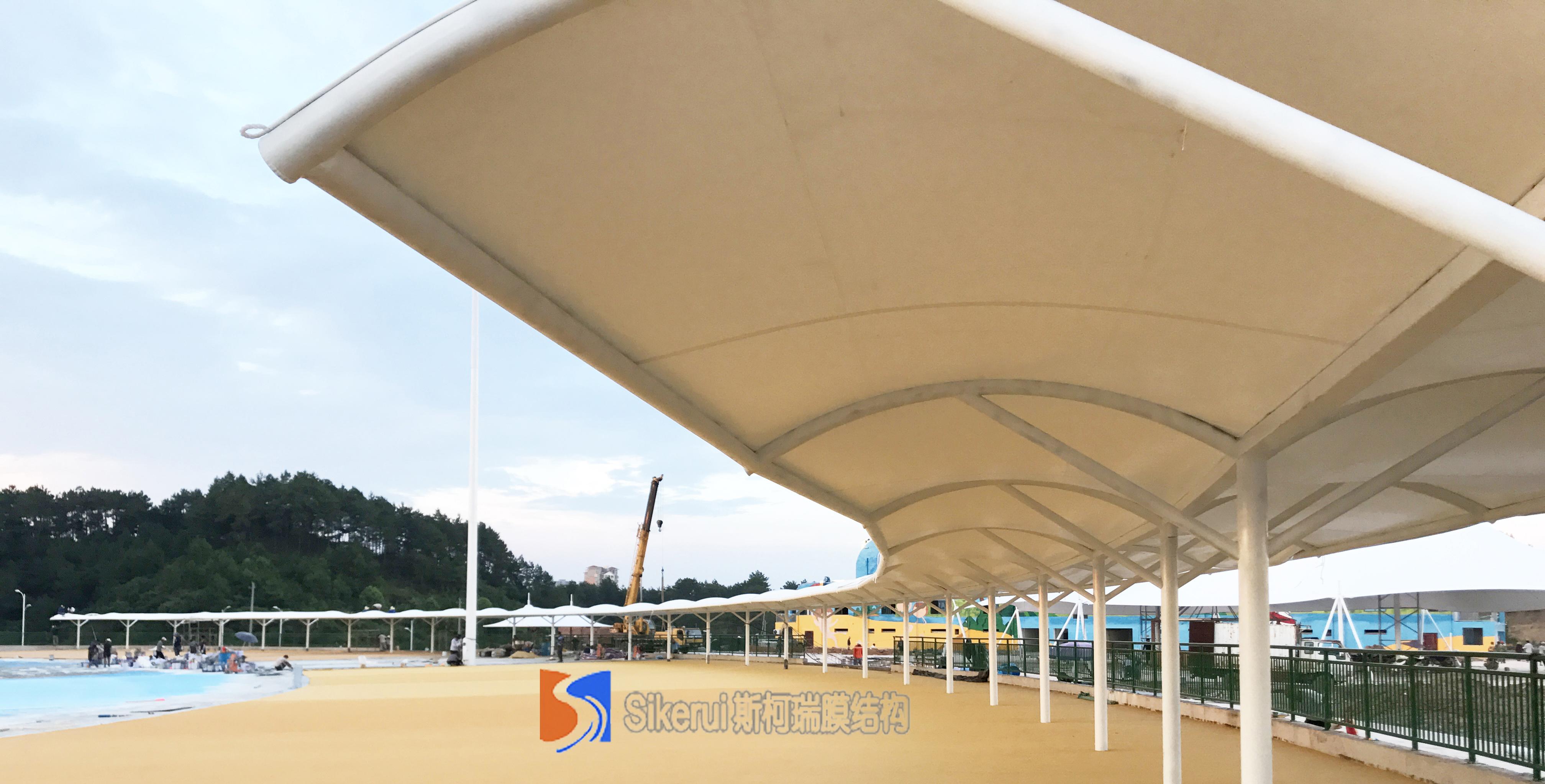 江西赣州水上乐园张拉膜项目