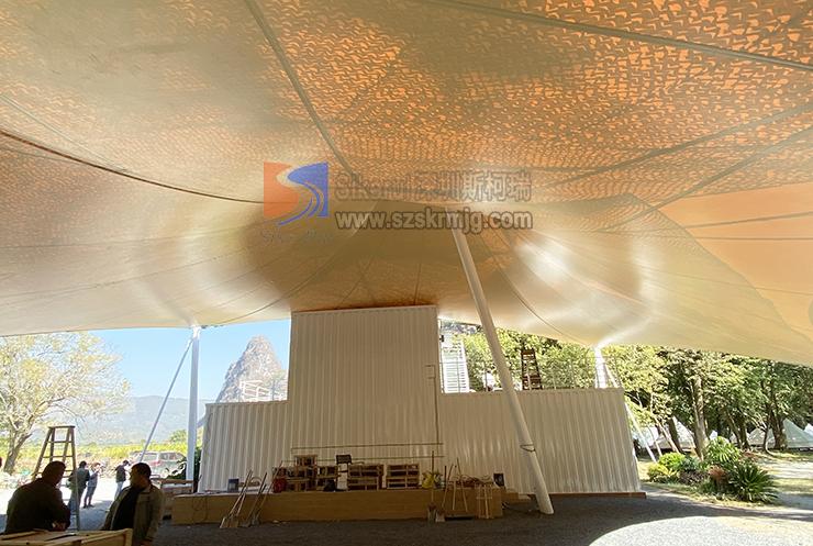 英德热气球营地景观张拉膜