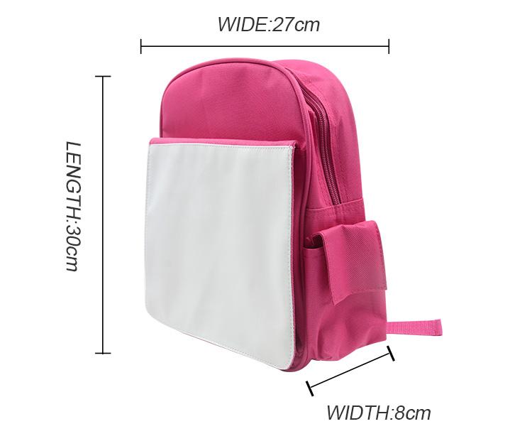Sublimation Kids Back Pack Pink