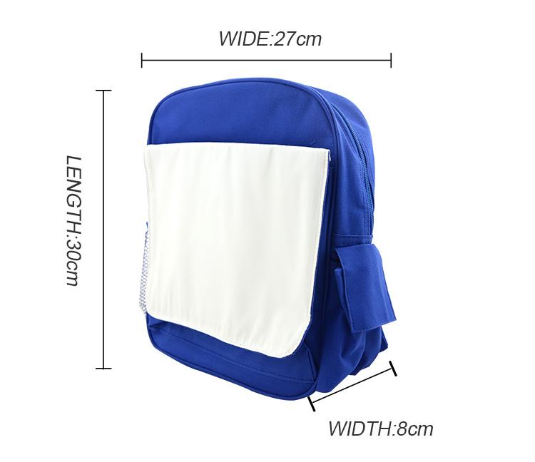 Sublimation Kids Back Pack Blue