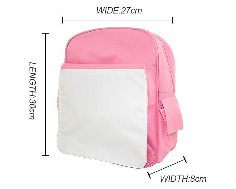 Sublimation Kids Back Pack Light Pink