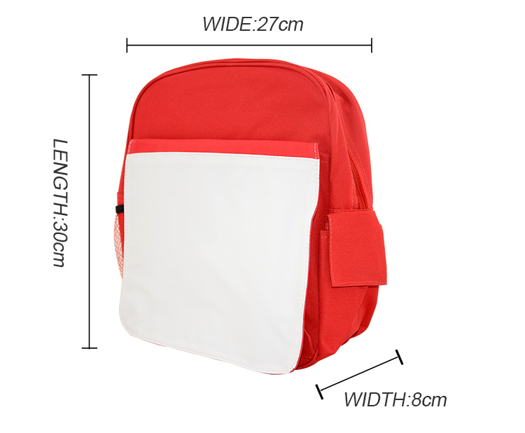 Sublimation Kids Back Pack Red