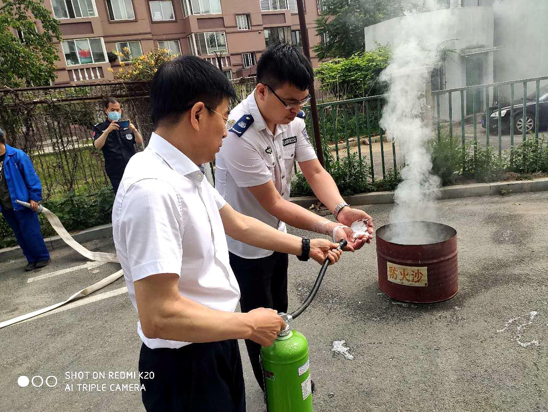 政安消防为鞍山市人事局开展消防培训及演练活动