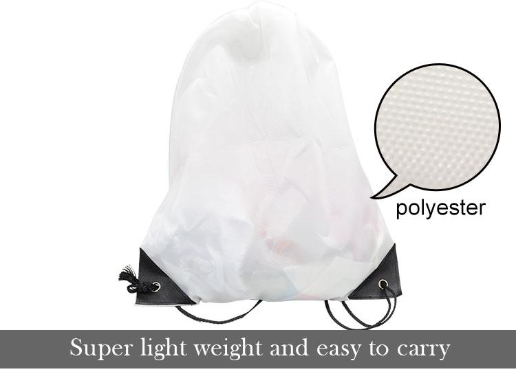 Sublimation Polyester Drawstring Bag2
