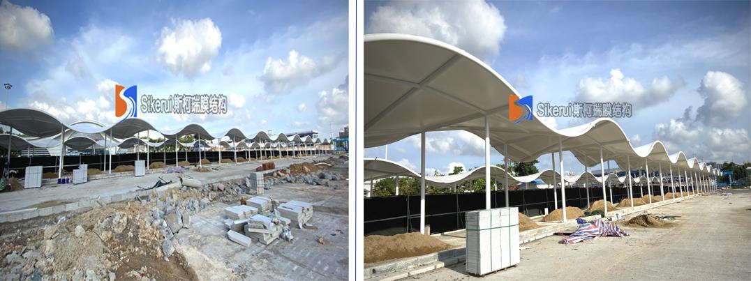 高铁站连廊膜结构项目
