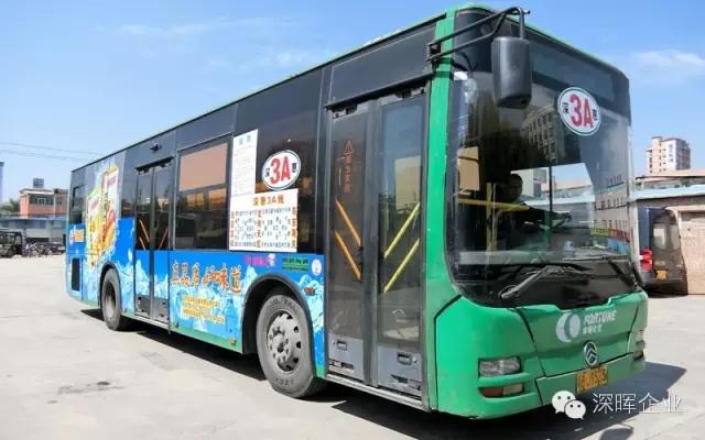 深晖产品广告公交车走起!