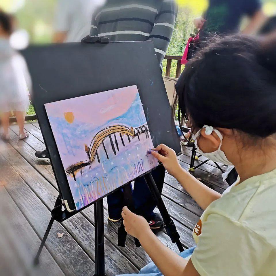 """大艺术创意教育,2020""""寻找春天的颜色""""线下写生课完美收官"""